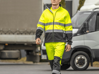 Giacca di avvertimento in softshell EXTER