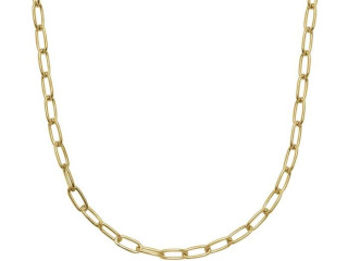 Collana Paper Clip 56 cm - Argento 925 Made in Italy